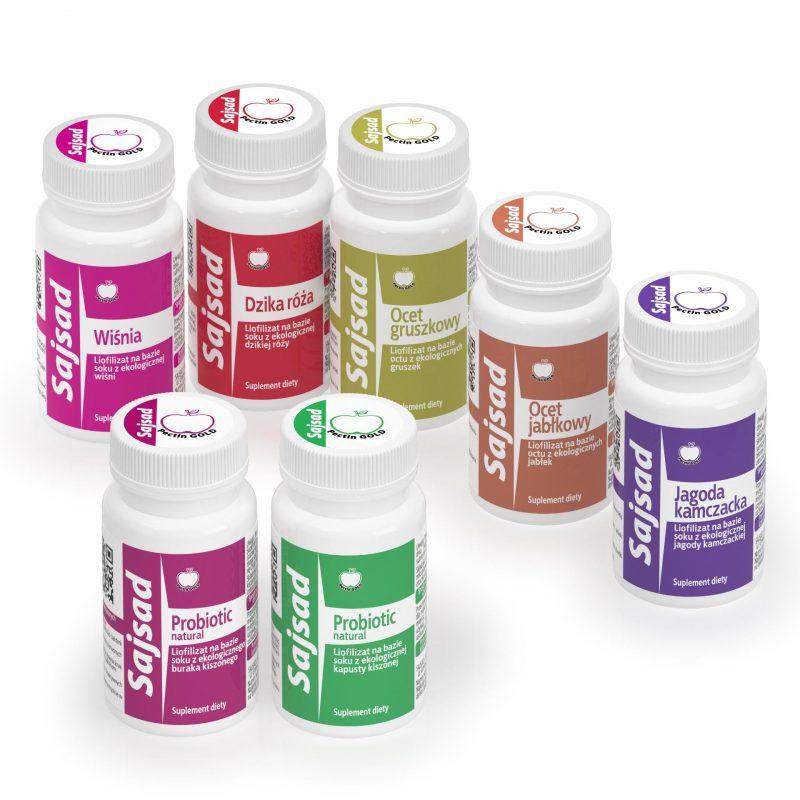 Produkty Sajsad - liofilizaty na bazie naturalnych soków